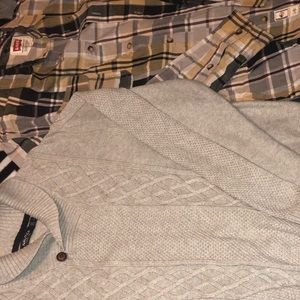 Bundle of men's Nautical sweater & Levi button up